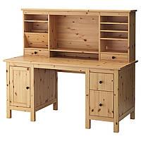 IKEA HEMNES (591.225.23) Письменный стол с и дополнительный модуль для стола