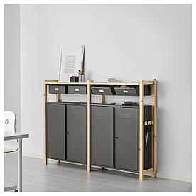 IKEA IVAR (691.837.09) 2 відділення/стовпи/шафи, сосна, сірий