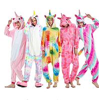 Кигуруми пижама взрослая единорог S