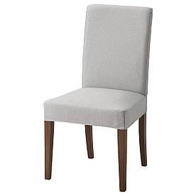 IKEA HENRIKSDAL (592.203.83) Стілець коричневий, Dansbo темно-сірий