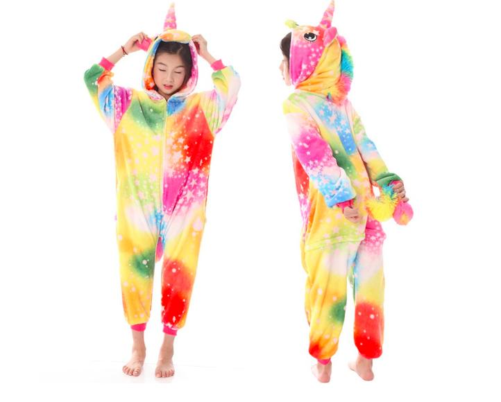 6a2bb533ba9a Кигуруми пижама детская единорог желтый звезды 130 см : продажа ...