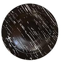 """Тарелка круглая глубокая """"Чёрный камень"""" 255 мм Helios G1705"""