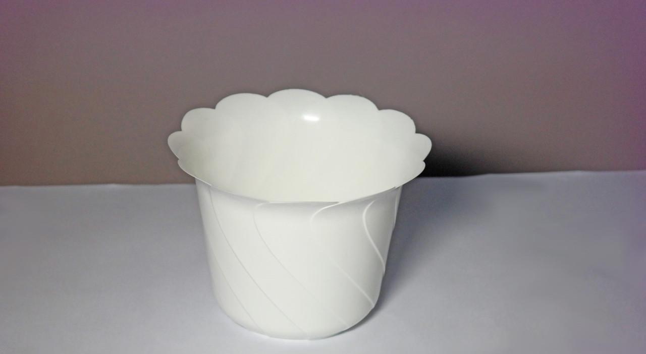 Горщик для квітів Тюльпан Білий 19см 1,35 літрів без піддону