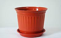 Горшок Равенна Терракотовый 11,5 см 0,4 литров без подставки
