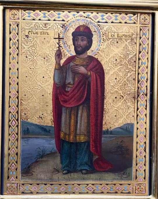 Ікона князь Борис 19 століття
