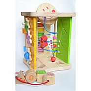 """Деревянная игрушка """"Большой Бизикуб"""" бизиборд, фото 2"""
