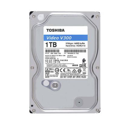 "Жесткий диск для компьютера 3.5"" 1 Тб/Tb Toshiba V300, SATA3, 64Mb, 5700 rpm (HDWU110UZSVA), винчестер hdd, фото 2"