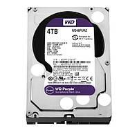 "Жесткий диск для компьютера 3.5"" 4 Тб/Tb Western Digital Purple, SATA3, 64Mb, 5400 rpm (WD40PURZ), винчестер hdd"