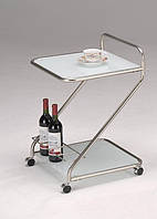 Сервировочный столик на колесиках W-112 белый