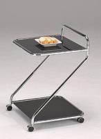 Сервировочный столик на колесиках W-113 черный