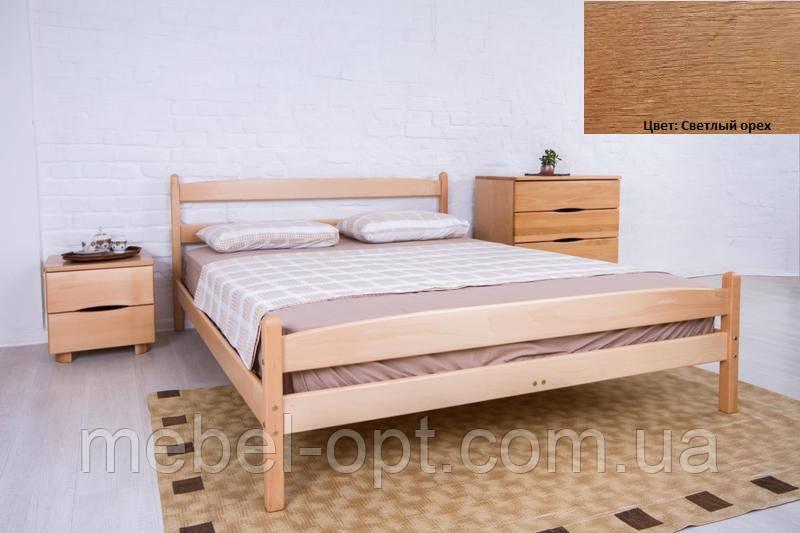 Кровать односпальная деревянная Ликерия с изножьем 80х200, цвет светлый орех