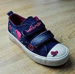 Кеды сине-розового цвета на липучках Marie для девочки
