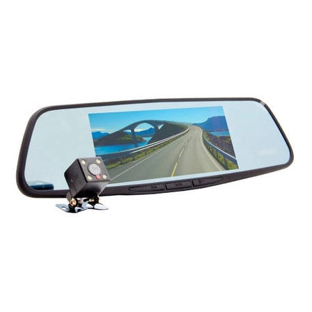 Видеорегистратор-зеркало Eplutus D30 с 2-мя камерами на базе Android с GPS и Wi-Fi (7 дюймов), фото 2