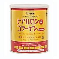 Биодобавка порошок коллаген для кожи с гиалуроновой кислотой Q10 FINE Gold 196 г ( 28 дней)