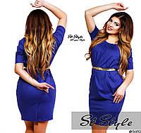 Платье трикотажное в батальных размерах (4 расцветки)322