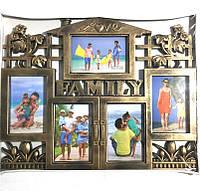 Коллаж на 5 фото Family Love, бронза