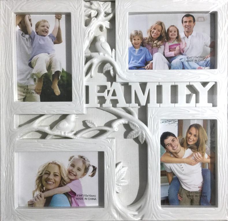 """Фоторамка """"Семейное дерево"""" на 4 фотографии 10х15 см"""