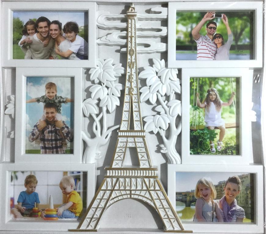 Коллаж на 6 фото Париж с позолотой