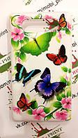 Чехол для Nokia Lumia 820 (Цветные бабочки)