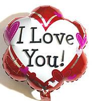 """Фольгированный шар  в форме цветка """"Love"""""""