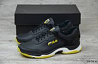 Мужские кожаные кроссовки Fila (Реплика), фото 1