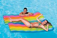 Пляжный надувной матрас Радуга 58876 Intex