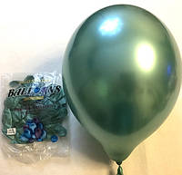 Воздушный шар хром зелёный профессиональный 45 см