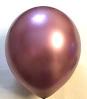 Воздушный шар хром розовый 45 см
