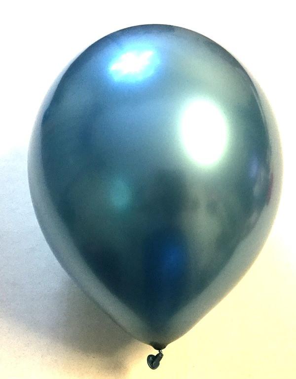 Воздушный шар хром синий 45 см