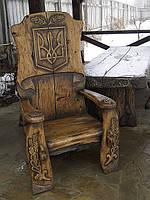 Кресло под старину, мебель для беседок
