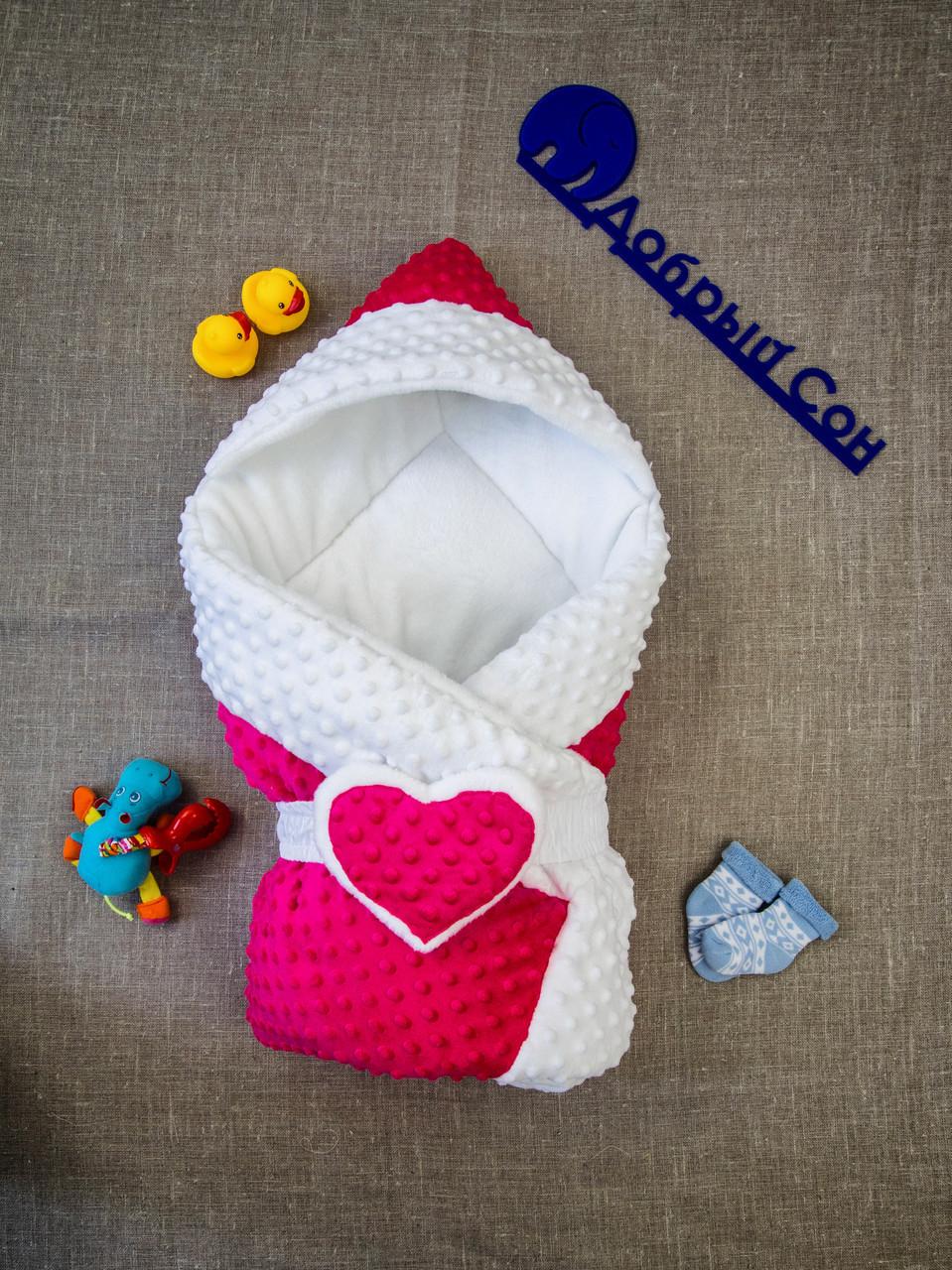Зимний конверт-одеяло на выписку для девочки