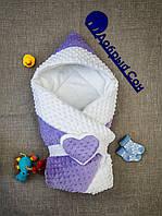 Зимний  конверт-одеяло со съемным  уголком 100х80 см, фото 1