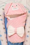 Теплый конверт- плед с капюшоном  для новорожденных, фото 5