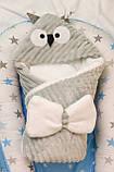 Теплый конверт- плед с капюшоном  для новорожденных, фото 8