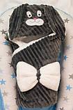 Теплый конверт- плед с капюшоном  для новорожденных, фото 9