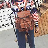 Рюкзак городской женский Simon dark brown, фото 6