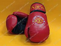 Перчатки боксерские Лев кожа 12oz