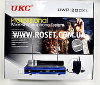 Беспроводная микрофонная система UKC DM UWP-200 XL 2CH  2 микрофона, фото 1
