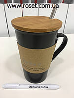 Керамическая чашка Starbucks Memo  (с ложкой и маркером), фото 1