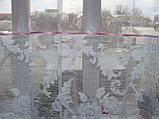 Тюль короткая белая с розовой вставкой, фото 2