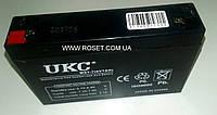 Аккумуляторная батарея(аккумулятор) UKC WST-7 (6V 7 AH), фото 1