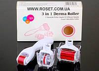 Мезороллер (дермароллер) для лица -  Derma Roller 3 в 1, фото 1