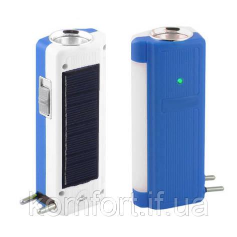 Фонарь аккумуляторный Yajia 1031 T, 1W+9SMD, солнечная батарея, фото 2