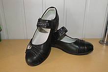 Туфли на девочку черные 34 р.