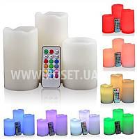 Набор светодиодных свечей Color Changing Luma Candles (12 цветов, пульт ДУ)