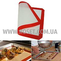 Силиконовый коврик для выпечки с антипригарным покрытием 60х40 см, фото 1