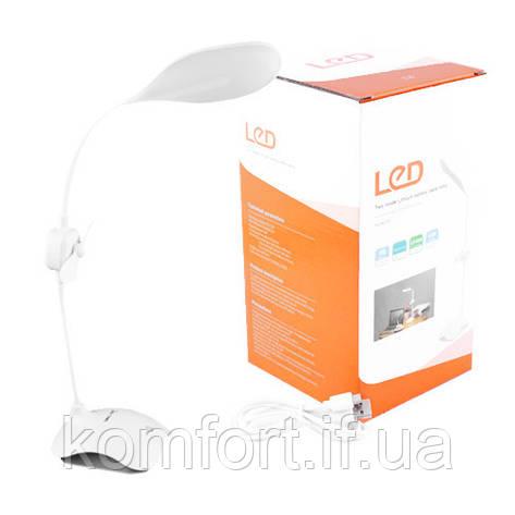 Настольная лампа Small Sun ZY-E6, 32+24SMD(лампа)+6SMD(ночник), встр.аккум/USB, ЗУ micUSB, вентилятор, фото 2