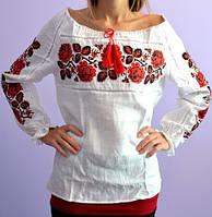 Женская вышиванка из натуральной ткани