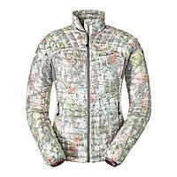 63da5681e17ba Куртка Eddie Bauer Womens MicroTherm StormDown Jacket Print CHROME S Серый  (1142CH-S)