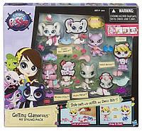 Игровой набор Маленький Зоомагазин  4 зверюшки с аксессуарами Littlest Pet Shop